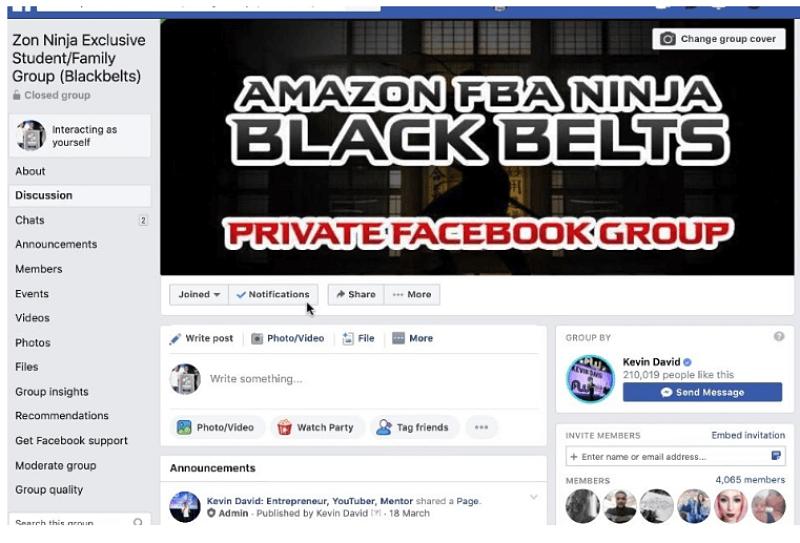 Amazon FBA Ninja Facebook Group